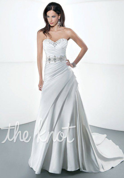 Quiet Elegance in this perfectly ruched size 14