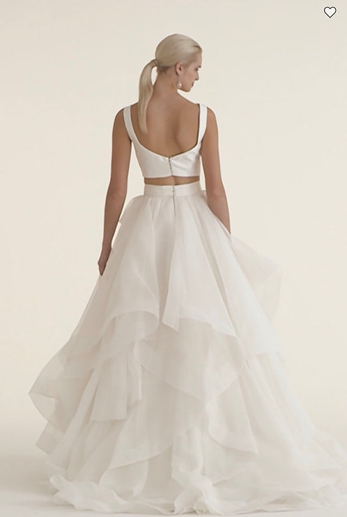 Very affordable two piece lightweight bridal fun size 8