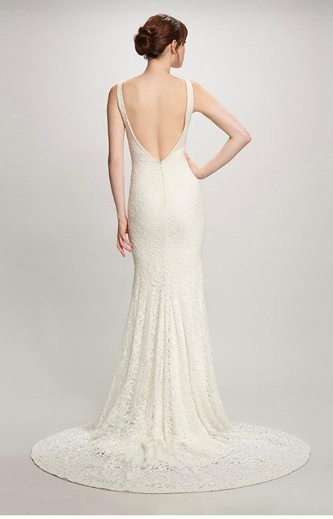 Stunning elegant lace plunging back size 14 brand new