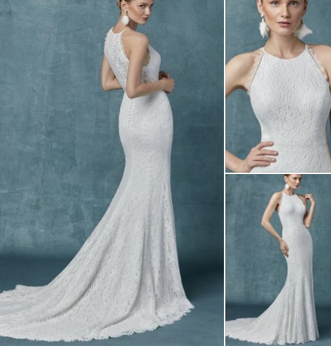 For the confident woman sz 12 Maggie Sottero Jersey BO HO