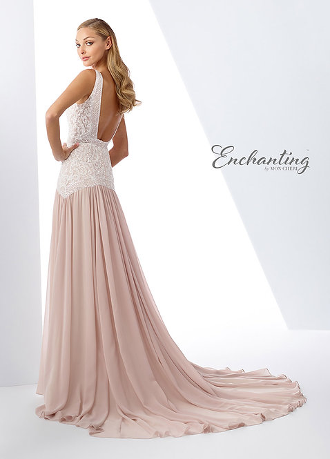 Schiffli lace slim A-line gown in your size now