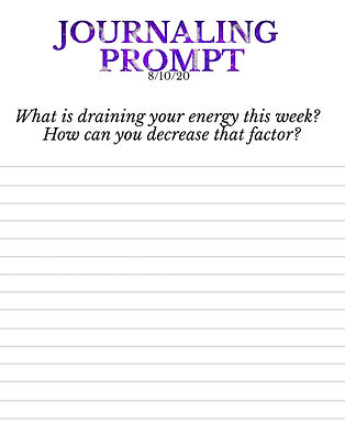 8-10-20 What is draining your energy thi