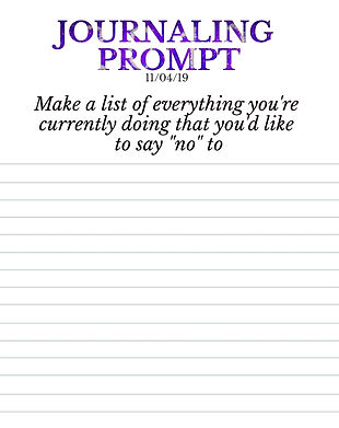 11-4-19 Make a list of everything you're