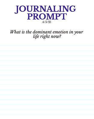 4-5-21 What is the dominant emotion in y