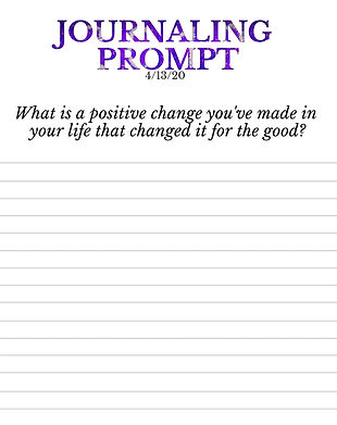 4-13-20 What is a positive change you've