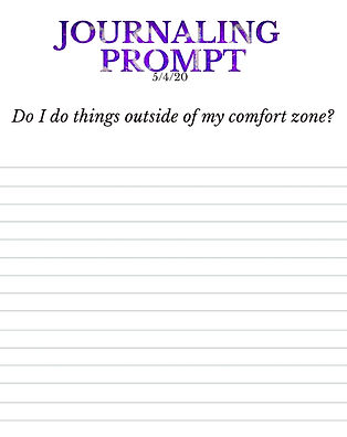 5-4-20 Do I do things outside my comfort