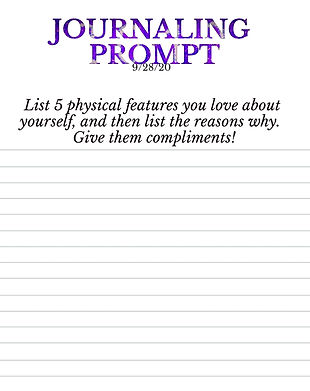 9-28-20 List 5 physical features you lov