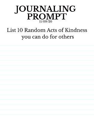 11-9-20 List 10 Random Acts of Kindness