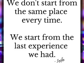 We don't start from the same place...