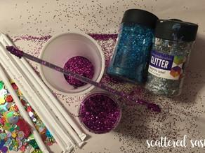 How to Make Glitter Sticks ~ Sasha Style!
