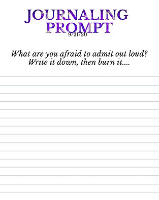 9-21-20 What are you afraid to admit out