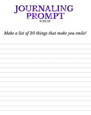 9-23-19 Make a list of 30 things that ma