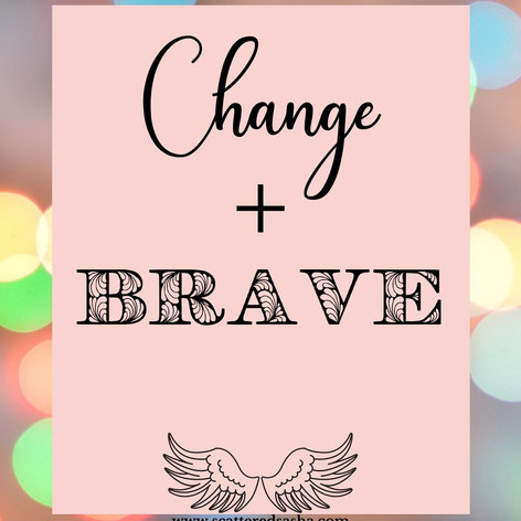 2021 word of the year Change and Brave.j