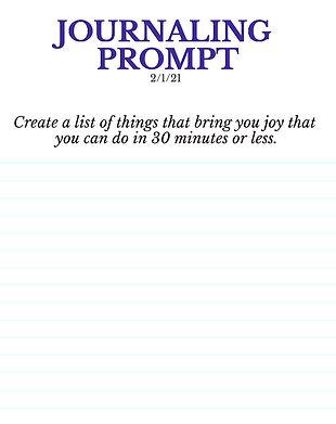 2-1-21 Create a list of things that brin