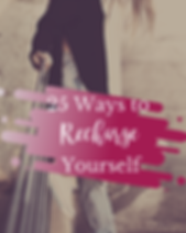 25 ways to recharge yourself -  Cover.pn