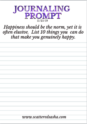 11-25-19 Happiness should be the norm.