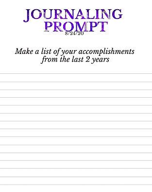 8-24-20 Make a list of your accomplishme