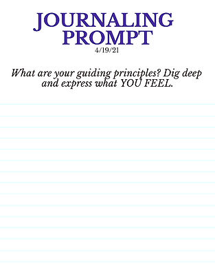 4-19-21 What are your guiding principles