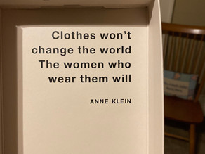 """Clothes won't change the world...."