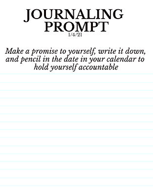 1-4-21 Make a promise to yourself, write