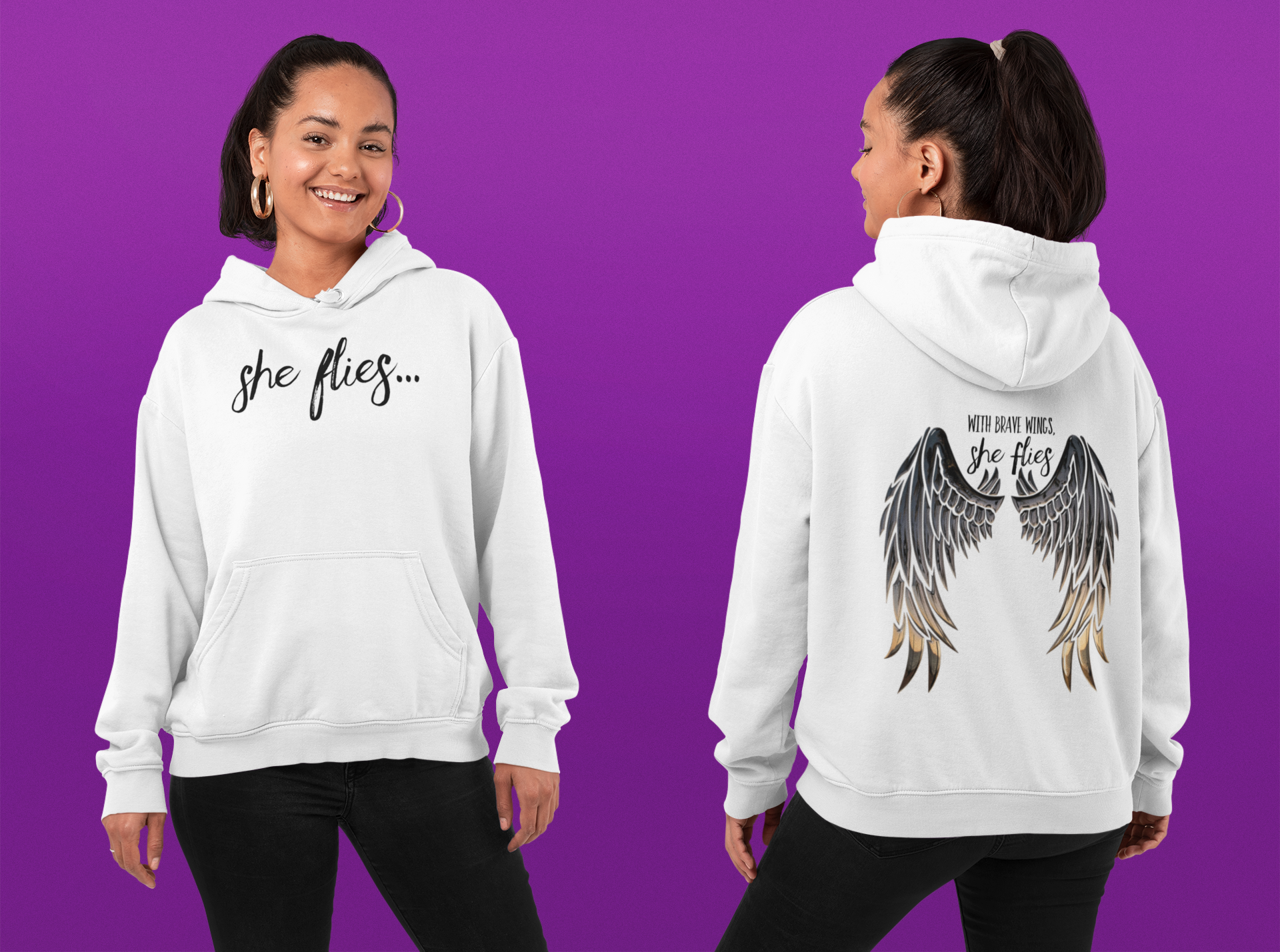 Promo - Wings on hoodie without website.