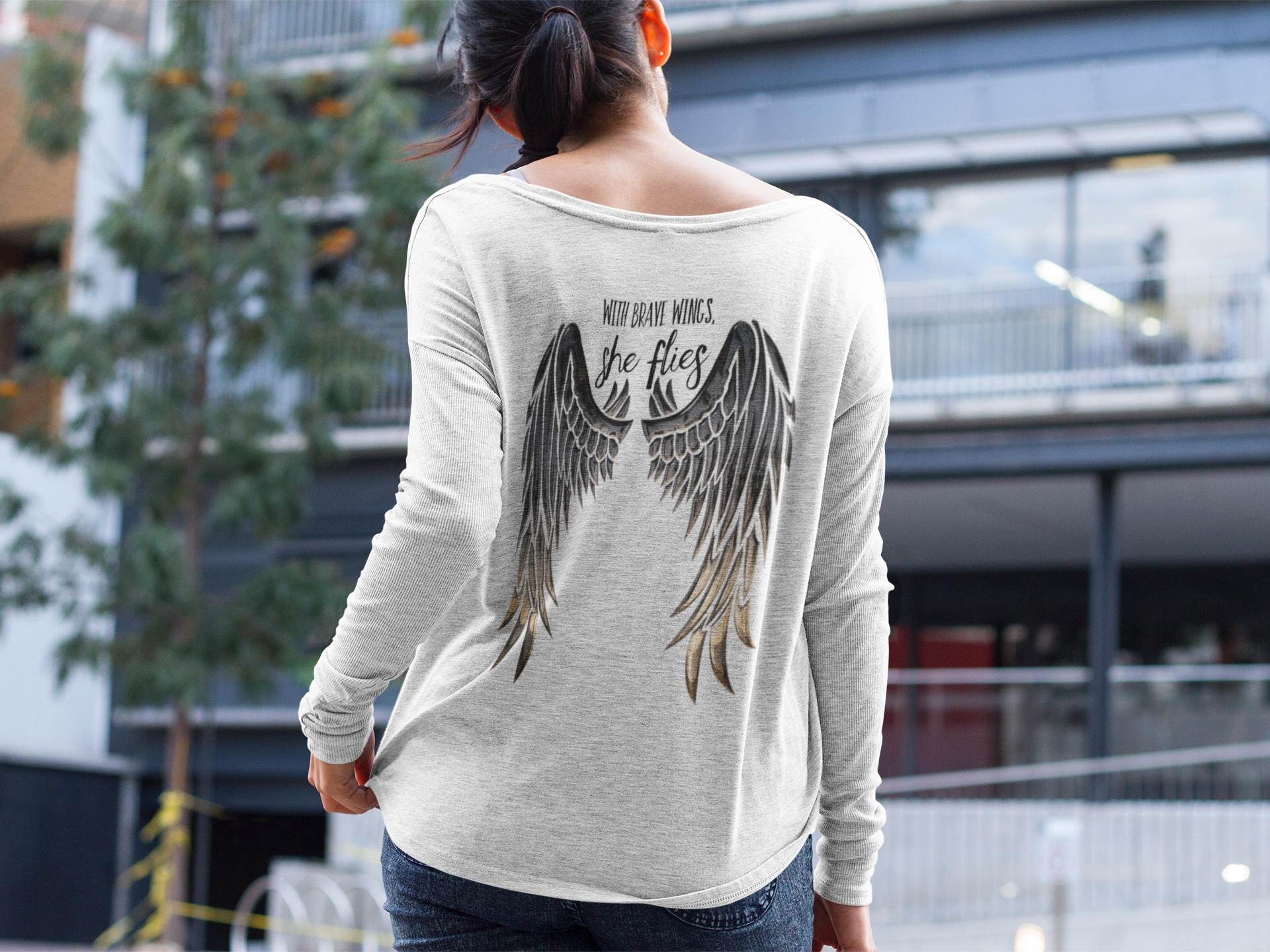 Promo - Wings on long sleeved shirt