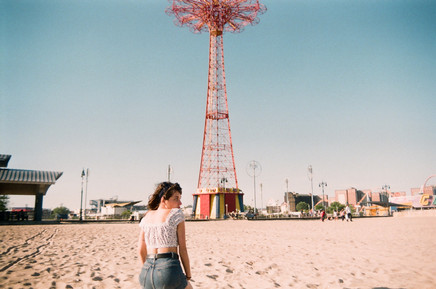 Gabrielle in Coney Island.