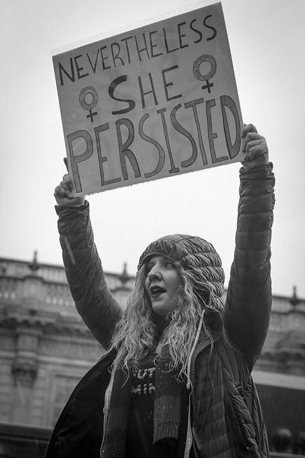 Women's March. London, 2018