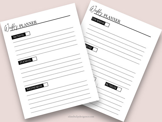 Undated Weekly Planner Template- Molly