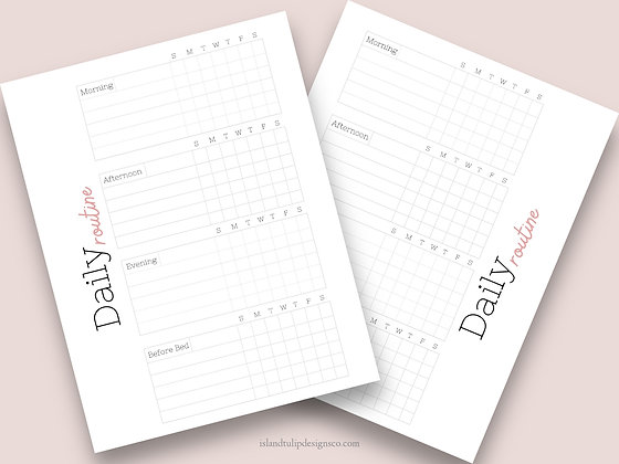Daily Routine  Canva Planner Template - Jesse