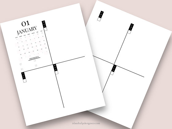 Semi-dated Weekly Planner Template - Cindy