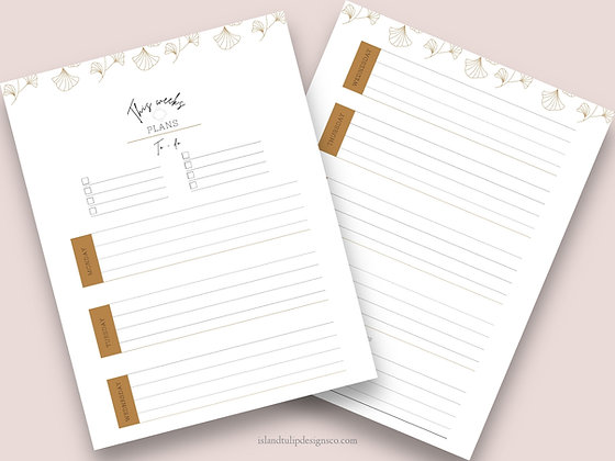 This Weeks Plans Weekly Planner Page - Floral