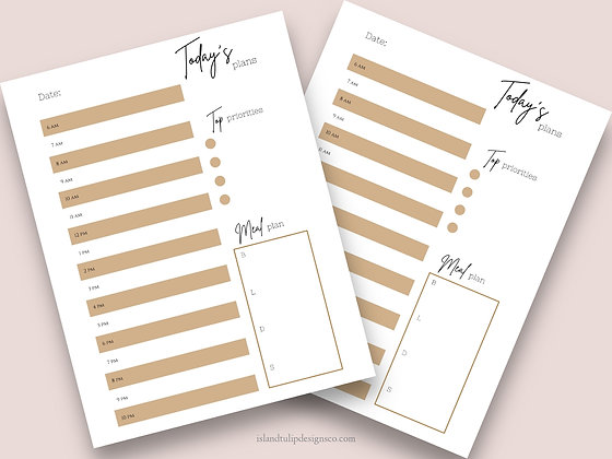 Undated Daily  Planner Template- Mizzy