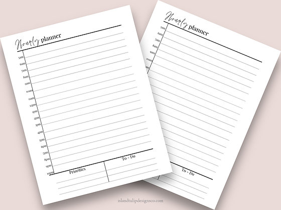 Hourly Undated Canva Planner Template- Cassie