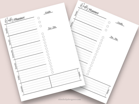 Undated Weekly Planner Template- Kelly