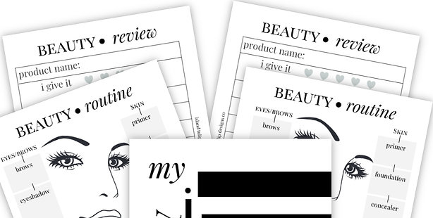 Beauty Routine Planner Insert - Coco