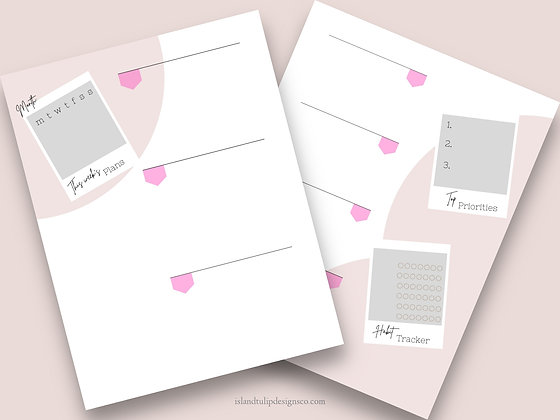 Horizontal Two Page Weekly Planner Template - Polaroid