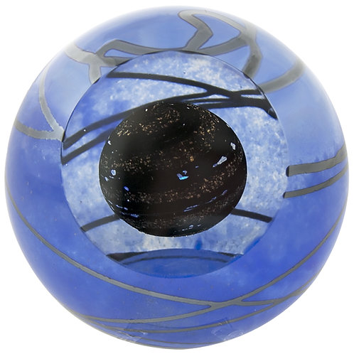 American made Glass Paperweight mysterious Planet 9
