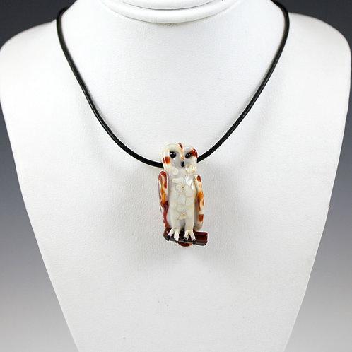 Stefani Woodams Glass Owl Pendants - Barn Owl 2