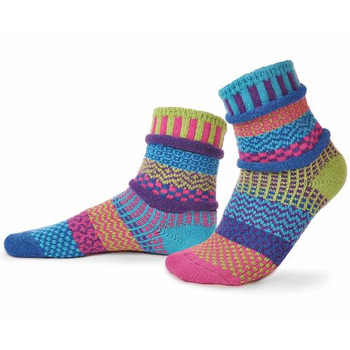 Recycled fiber Mismatch Socks Bluebell pattern