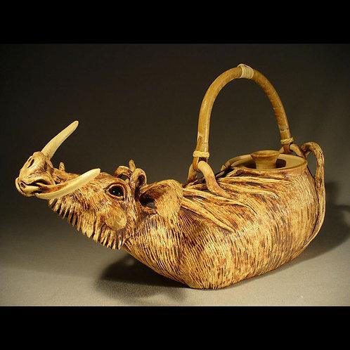 Handmade Functional Warthog Teapot