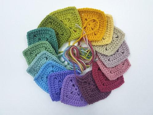Crochet a Sampler Stitch Burping Blanket - Thursdays 7/8 - 8/5  5:30-7:PM