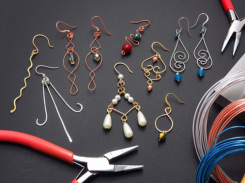Wireworking for Crafting Unique Dangle Earrings - Wednesday 11/10 5PM - 6:30PM