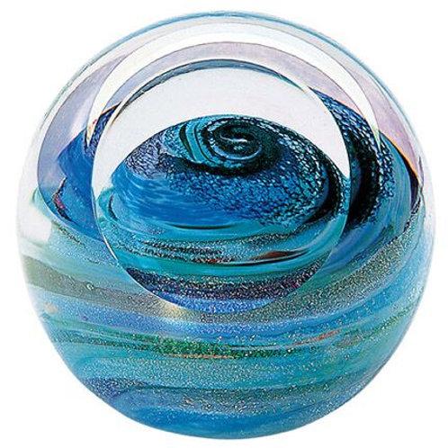 American made Glass Paperweight Planet Uranus