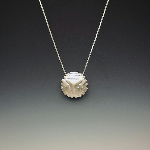 "Laurie Schutt Jewelry ""Domed Triangle"" Necklace"