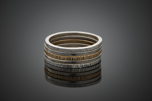 "Laurie Schutt Jewelry ""Stack #1"" Rings"
