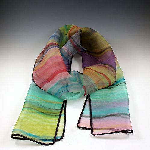 Hilary Gifford Hand Painted Silk Organza Scarf