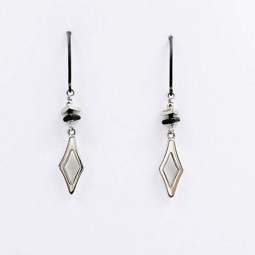 Arlee Kasselman - Fine Silver Diamond Shaped Double Drop