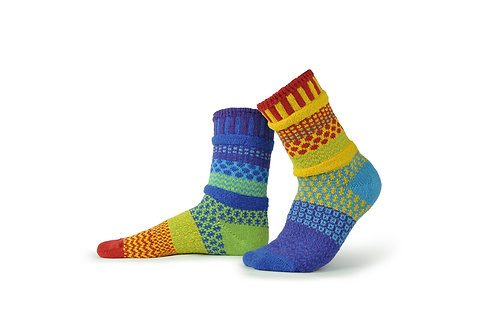 Solmate Socks Rainbow Crew Sock
