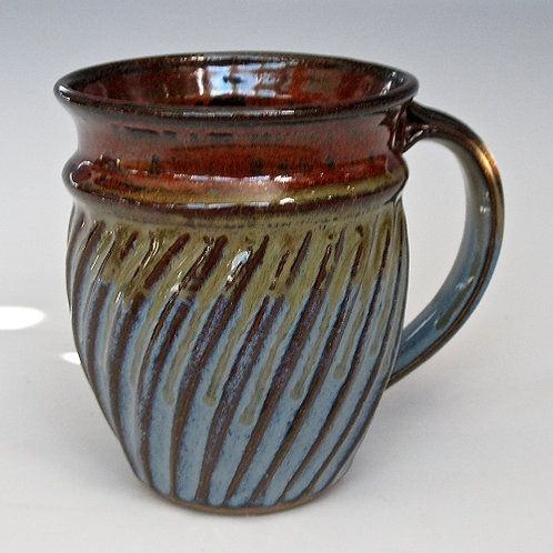 Handmade Fluted Mug